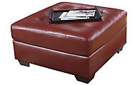 Ashley Alliston Salsa Bonded Leather Ottoman