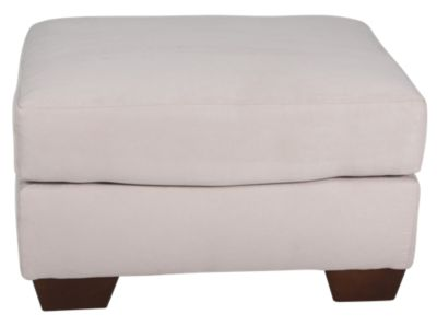 Ashley Darcy Microfiber Cream Ottoman
