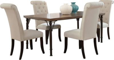 Ashley Tripton Table & 4 Upholstered Chairs