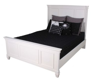 Ashley Prentice Contemporary White Queen Bed