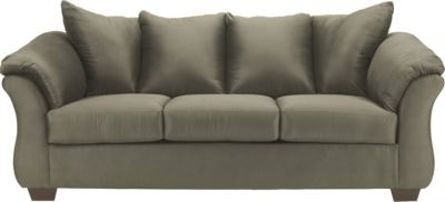 Ashley Darcy Microfiber Green Sofa