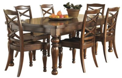 ashley porter 7 piece dining set homemakers furniture