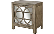 Aspen Tildon 3-Drawer Mirrored Nightstand