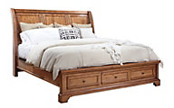 Aspen Alder Creek Queen Sleigh Storage Bed
