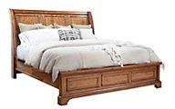 Aspen Alder Creek California King Sleigh Bed