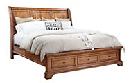Aspen Alder Creek King Sleigh Storage Bed