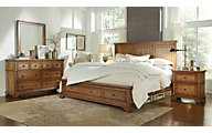 Aspen Alder Creek 4-Piece King Storage Bedroom Set