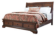 Aspen Bancroft California King Sleigh Storage Bed