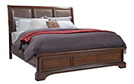 Aspen Bancroft King Bonded Leather Sleigh Bed