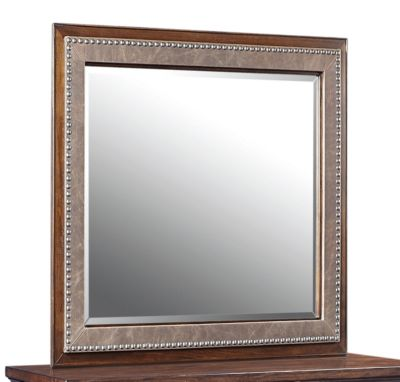Aspen Bancroft Bonded Leather Mirror