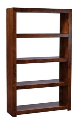 Aspen Contemporary Alder Open Bookcase