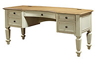 Aspen Cottonwood 66-Inch Pedestal Desk