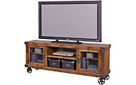 Aspen Industrial Fruitwood 74-Inch TV Console