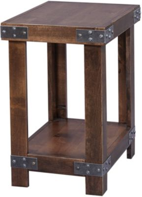 Aspen Industrial Tobacco Chairside Table