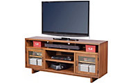 Aspen Walnut Heights Amber 65-Inch TV Console