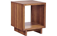 Aspen Walnut Heights Amber End Table