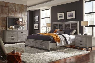 Aspen Hyde Park 4-Piece Queen Storage Bedroom Set | Homemakers ...