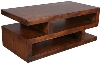 Aspen Contemporary Fruitwood Coffee Table Homemakers Furniture