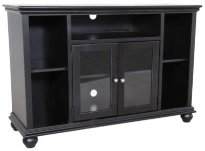 Aspen Casual Traditional Black 51-Inch Highboy Console