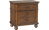 Oxford Whiskey Brown 2-Drawer Nightstand