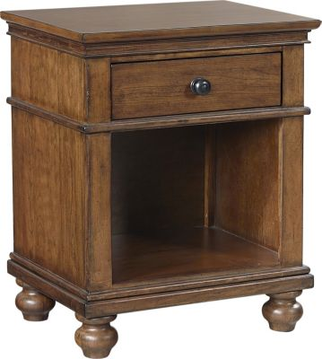 Aspen Oxford Whiskey Brown 1-Drawer Nightstand