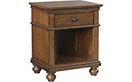 Oxford Whiskey Brown 1-Drawer Nightstand