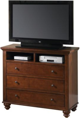 Aspen Cambridge Brown Media Chest