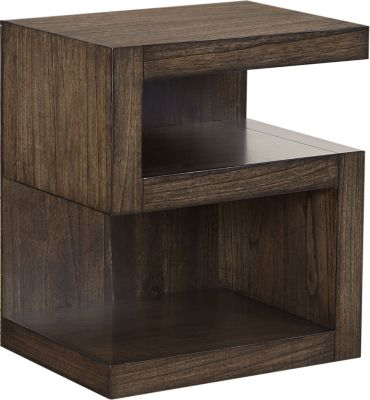 Aspen Modern Loft Brown Open Nightstand