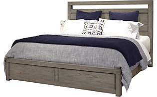 Aspen Modern Loft Gray Queen Bed