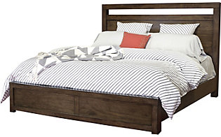 Aspen Modern Loft Brown King Bed