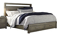 Aspen Modern Loft Gray Queen Storage Bed