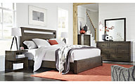 Aspen Modern Loft Brown 4-Piece Queen Bedroom Set