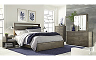 Aspen Modern Loft Gray Queen Bedroom Set