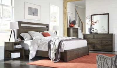 Aspen Modern Loft Brown 4-Piece King Bedroom Set