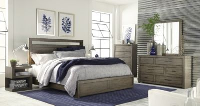 Aspen Modern Loft Gray 4-Piece King Bedroom Set
