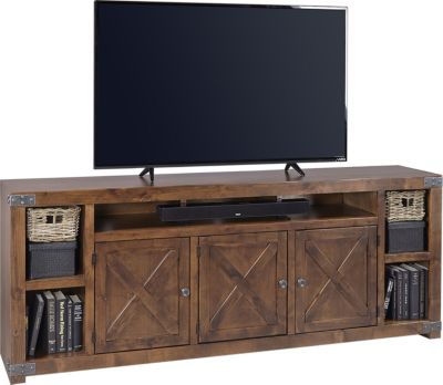 Aspen Urban Farmhouse 84 Inch Barn Door Tv Stand Homemakers Furniture