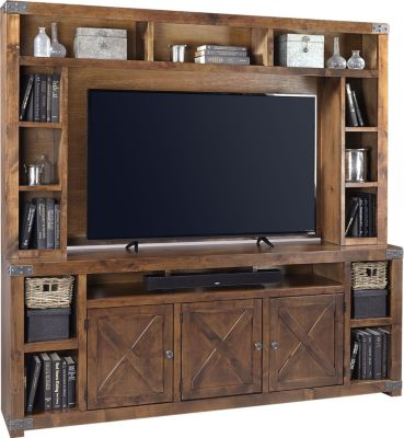 Aspen Urban Farmhouse Barn Door Entertainment Center Homemakers