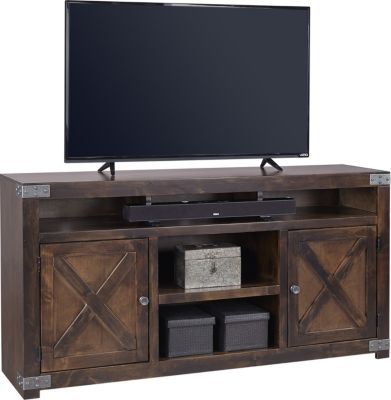 Favorite Aspen Urban Farmhouse 65-Inch Tobacco Barn Door TV Stand  FJ98