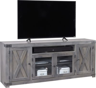 72 inch tv stand Aspen Urban Farmhouse 72 Inch Gray Barn Door TV Stand | Homemakers  72 inch tv stand