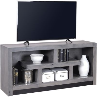 Aspen Contemporary Alder 60-Inch Gray TV Stand