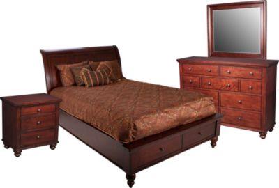Aspen Cambridge 4 Piece Queen Storage Bedroom Set
