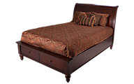 Aspen Cambridge Brown Queen Storage Bed