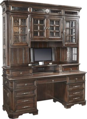 Aspen Sheffield Credenza Desk & Hutch