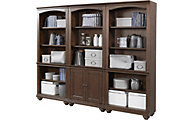 Aspen Oxford Whiskey Brown Bookcase Wall