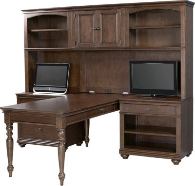 Aspen Oxford Whiskey Brown Modular Desk