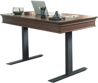 Aspen Oxford Whiskey Brown Adjustable Desk