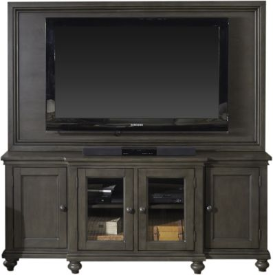 Aspen Oxford 75-Inch Peppercorn Console with TV Backer