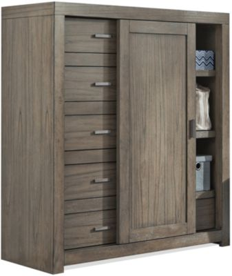 Aspen Modern Loft Gray Sliding Door Chest