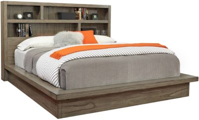 Aspen Modern Loft Gray Queen Platform Bed