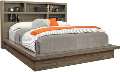 Aspen Modern Loft Gray King Platform Bed